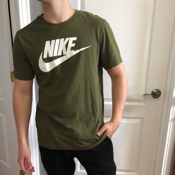 Nike military green shirt